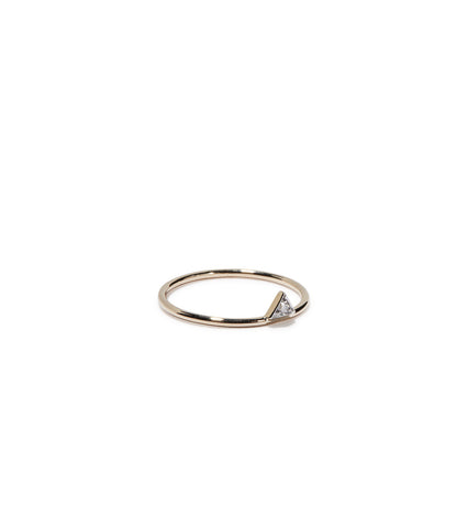 SINGLE PEAK RING W/ DIAMOND