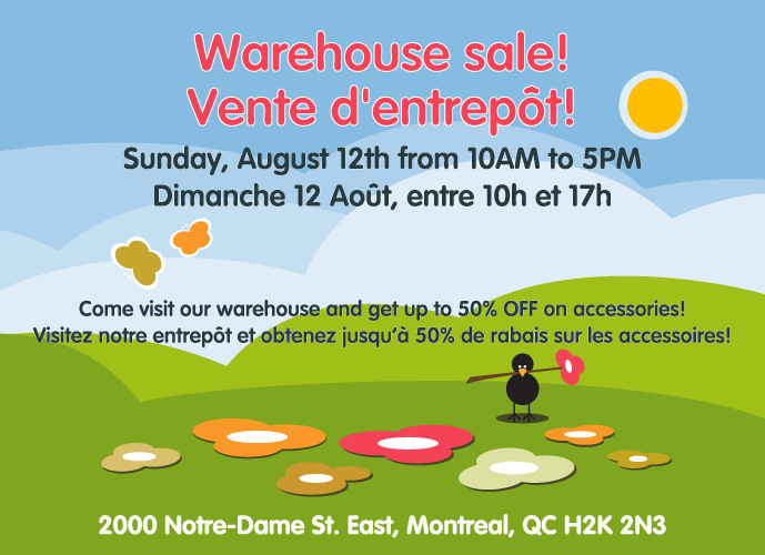 Warehouse Sale! Vente d'entrpôt!