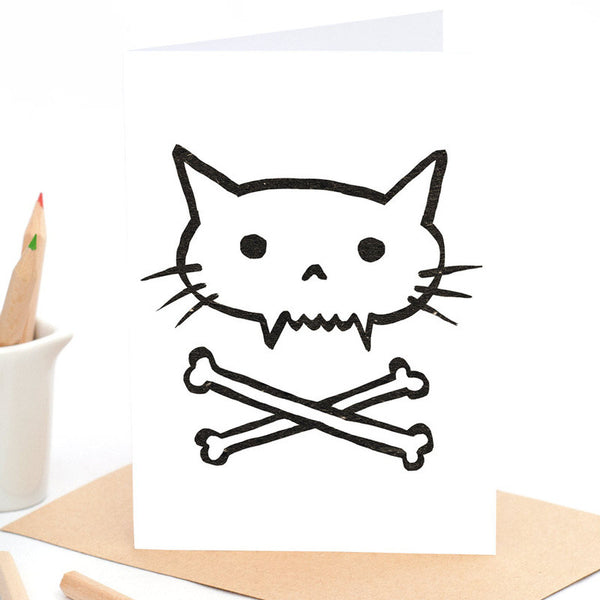 Beau Wylie Greeting Card (Pirate Kitty) IN STOCK