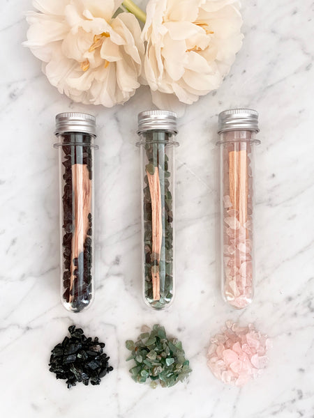 Crystal Infused Palo Santo Kit SET OF 3 (Assorted)