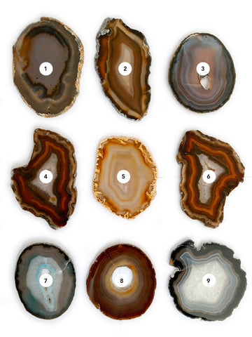 Agate Slice Natural (Medium 10cm) • NEW