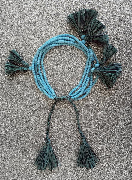 Aliyah Beaded Tassel Bracelet (Marine) IN STOCK