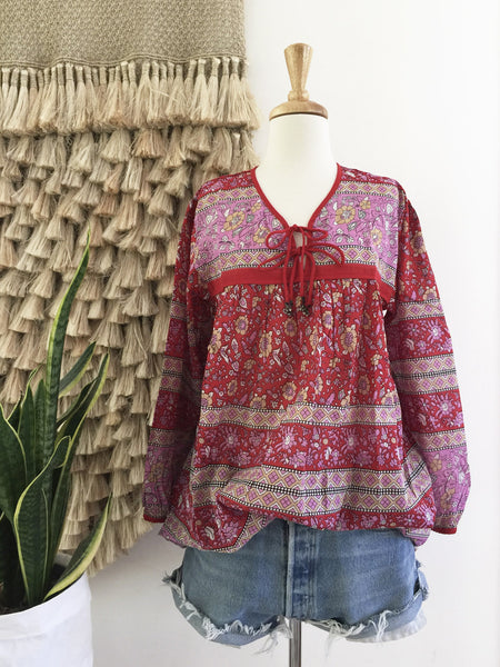 "Chowchilla Vintage Indian Gypset Blouse ""Asha"" • LAST ONE (Size L)"
