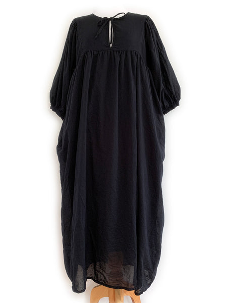 "Chowchilla Vintage Arkie Dress ""Black Cotton Voile"""