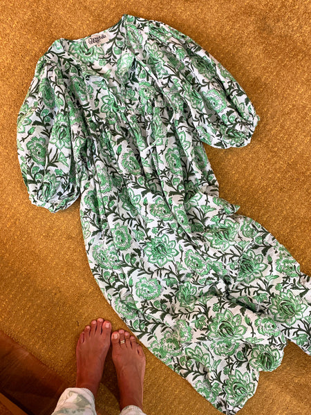 "Chowchilla Vintage Arkie Dress ""Ivy Green"""