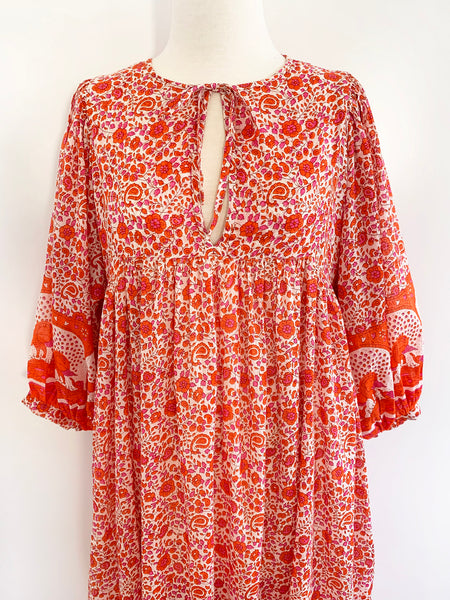 "Chowchilla Vintage Arkie Dress ""Tangerine"" • NEW"