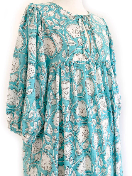 "Chowchilla Vintage Arkie Dress ""Aqua Vine"""