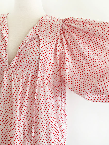 "Chowchilla Vintage Arkie Dress ""Spotty Dotty Red"""