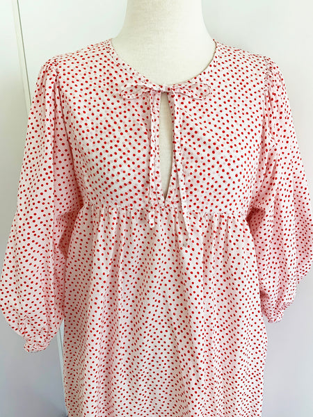 "Chowchilla Vintage Arkie Dress ""Spotty Dotty Red"" • NEW"