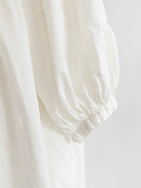 "Chowchilla Vintage Arkie Dress ""White Cotton Voile"""