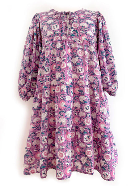 "Chowchilla Vintage Arkie MINI Dress ""Lilac Marigold"""
