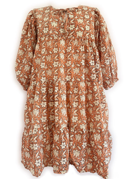 "Chowchilla Vintage Arkie MINI Dress ""Terracotta Blossom"" • PRE-ORDER"