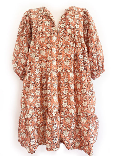 "Chowchilla Vintage Arkie MINI Dress ""Terracotta Blossom"" • NEW"