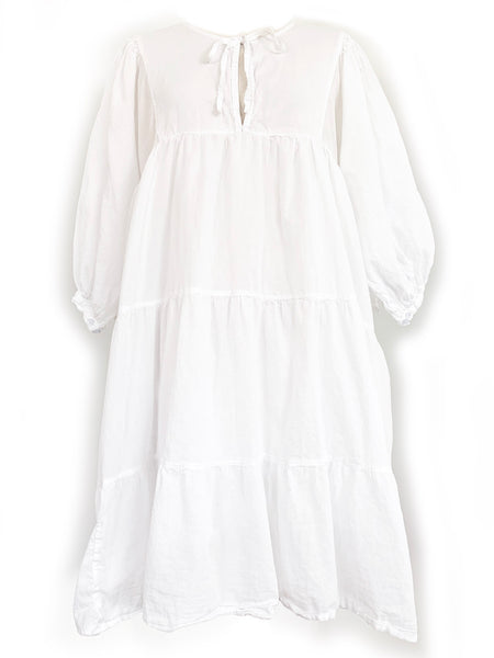 "Chowchilla Vintage Arkie MINI Dress ""Cotton Voile White"""