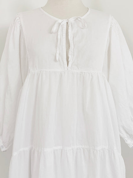 "Chowchilla Vintage Arkie MINI Dress ""White Cotton Voile"""