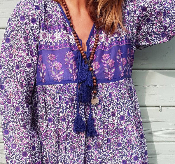 "Chowchilla Vintage Indian Gypset Blouse ""Belle"""
