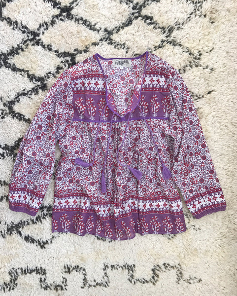 "Chowchilla Vintage Indian Gypset Blouse ""Bekah"" • LAST ONE (Size XS)"