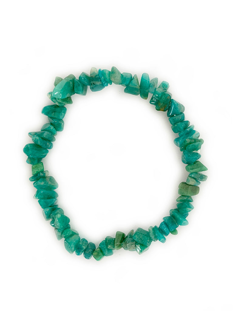 AMAZONITE Cleansing Crystal Chip Bracelet