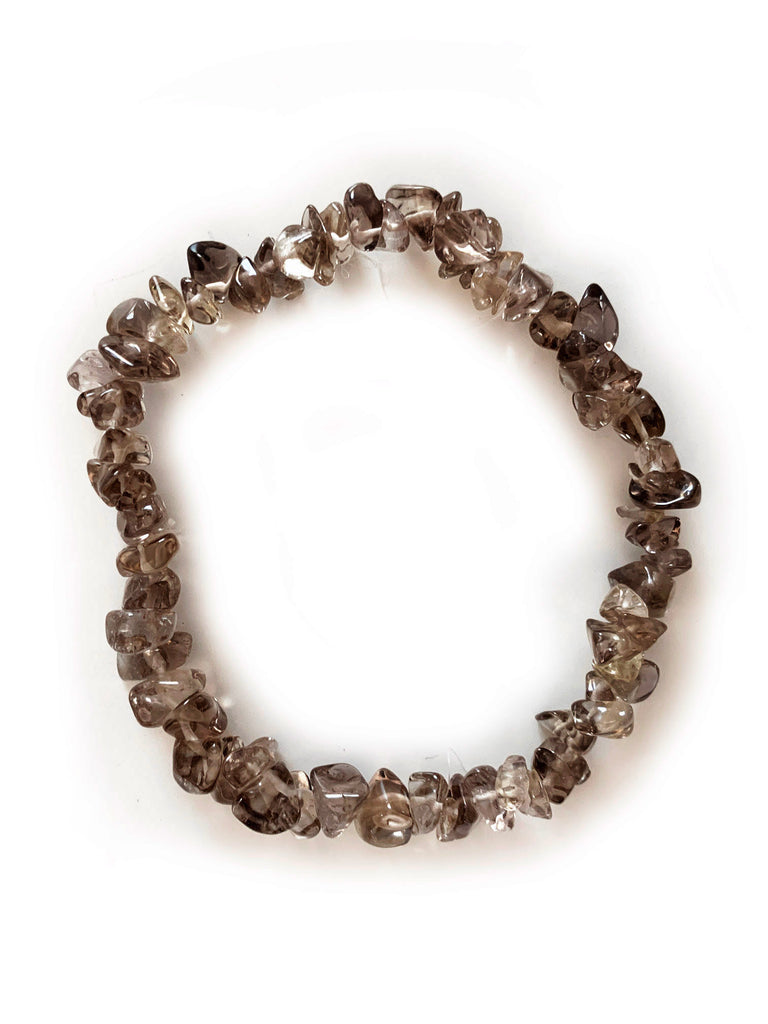 SMOKY QUARTZ Cleansing Crystal Chip Bracelet