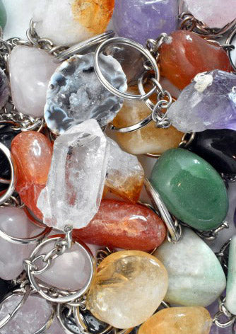 Crystal Key Ring (Clear Quartz Point) • BACK IN STOCK
