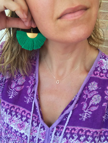 Fanfare Tassel Earrings (Emerald) NEW