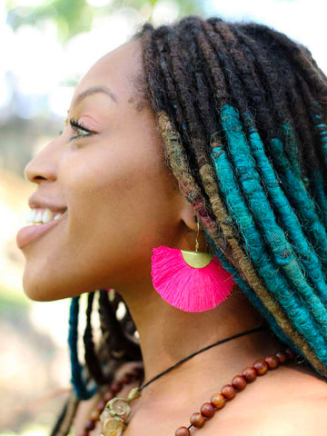 Fanfare Tassel Earrings (Fuchsia)
