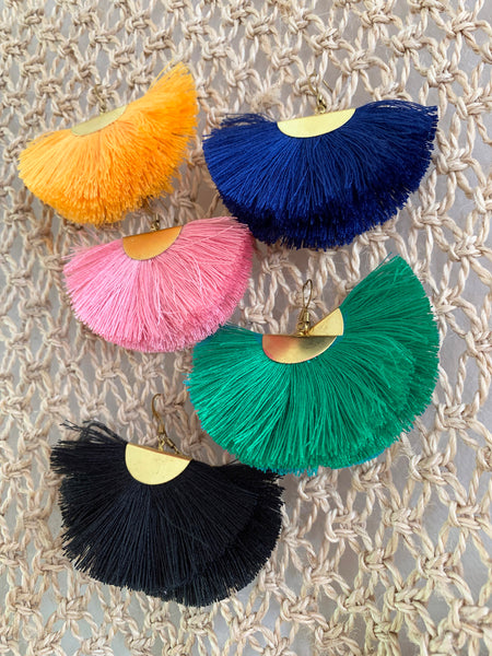 Fanfare Tassel Earrings (Royal)