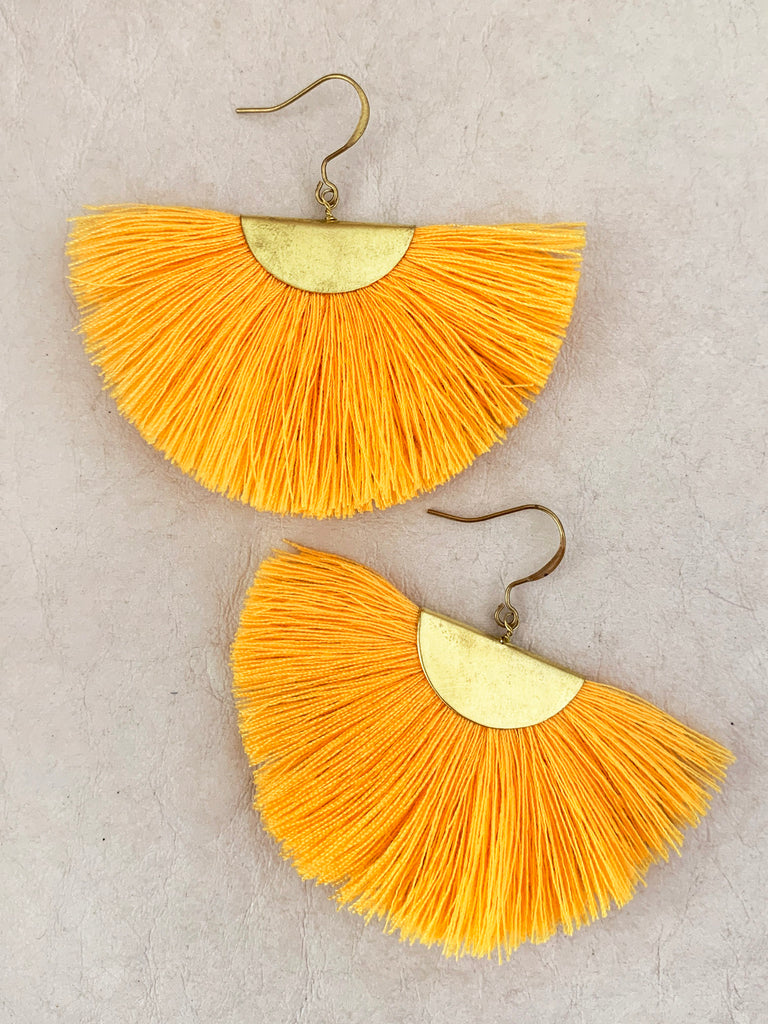 Fanfare Tassel Earrings (Canary)