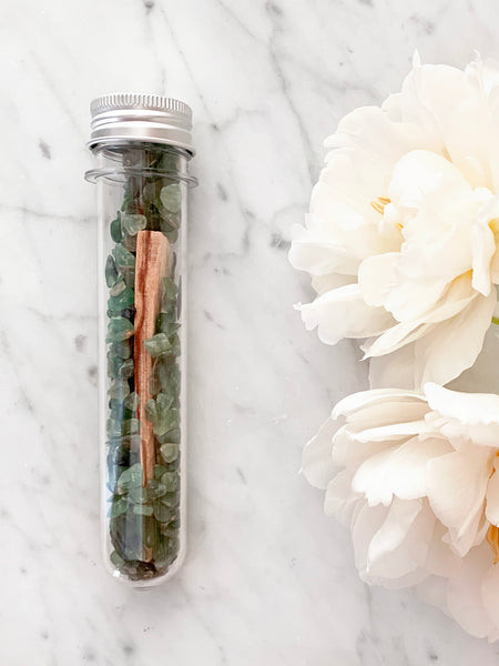 Crystal Infused Palo Santo Kit (Green Aventurine)