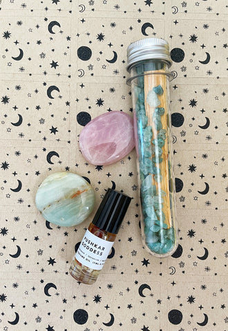 Crystal Infused Palo Santo Kit (Aquamarine) • NEW