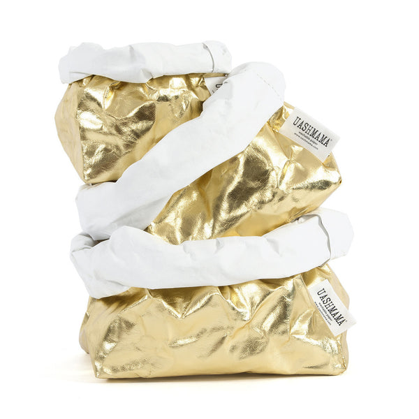 Uashmama Bag LARGE PLUS (Gold/White) IN STOCK