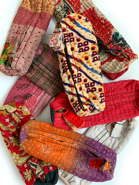 Indian Kantha Makeup Pouch • NEW