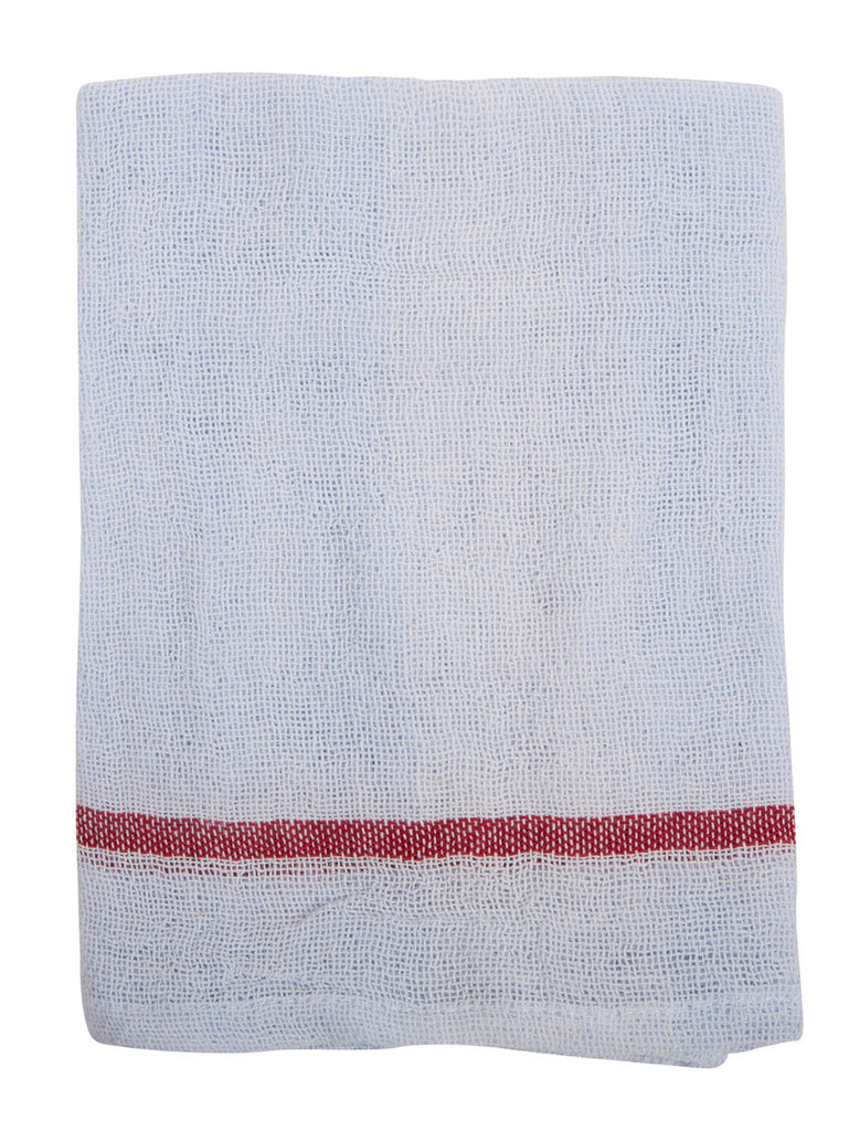 Indian Cotton Dish Cloth/Napkin (Pale Lavender/Dark Red) • 85x50cm