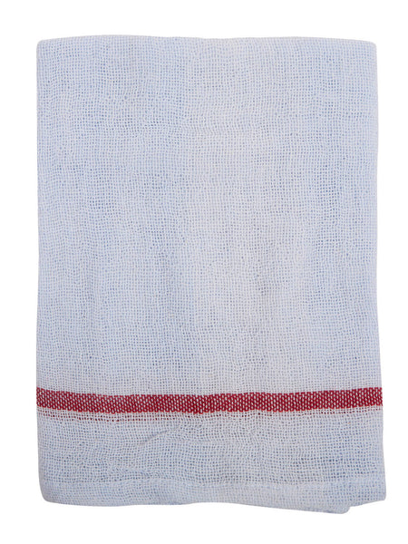 Indian Cotton Dish Cloth/Napkin (Pale Lavender/Dark Red) 85x50cm