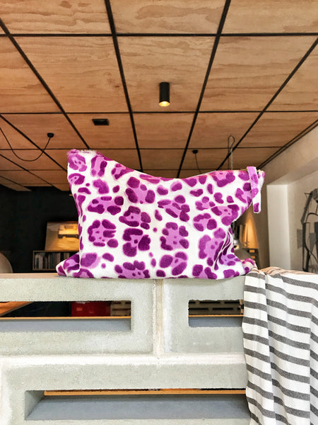 The Goods 3/4 Clutch Leopard Pony Skin (Mauve) LAST ONE