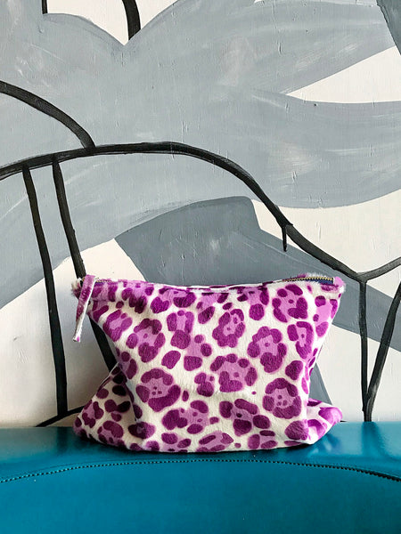 The Goods 3/4 Clutch Leopard Pony Skin (Mauve)