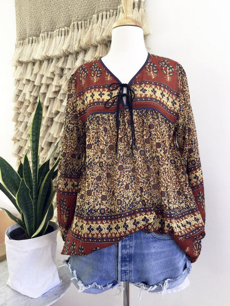 "Chowchilla Vintage Indian Gypset Blouse ""Manaya"""