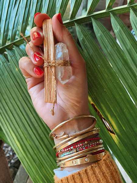 Mini Meditation Bundle (Palo Santo + Clear Quartz)