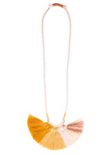 Krysos + Chandi Nima Tassel Necklace (Cream/Copper/Mustard)