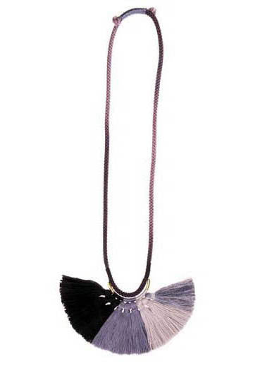 Krysos + Chandi Nima Tassel Necklace (Grey/Pewter/Black)