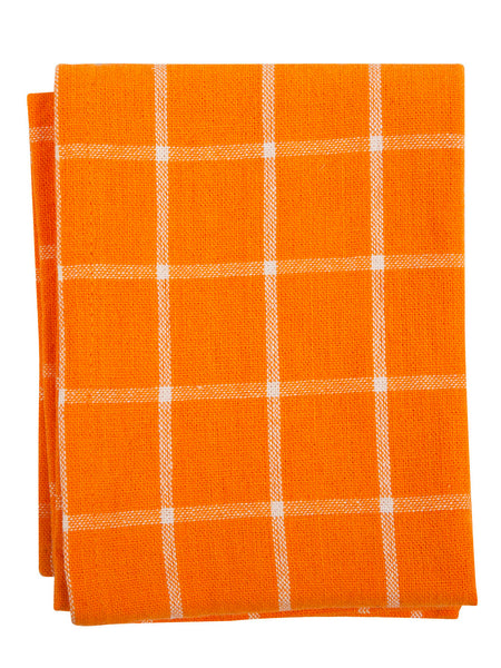 Indian Cotton Dish Cloth/Napkin (Orange/White) • 67x50cm