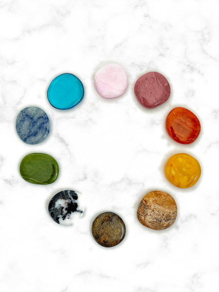 CHAKRA 2.0 Palm Stone Crystal Set (10 pieces) • NEW