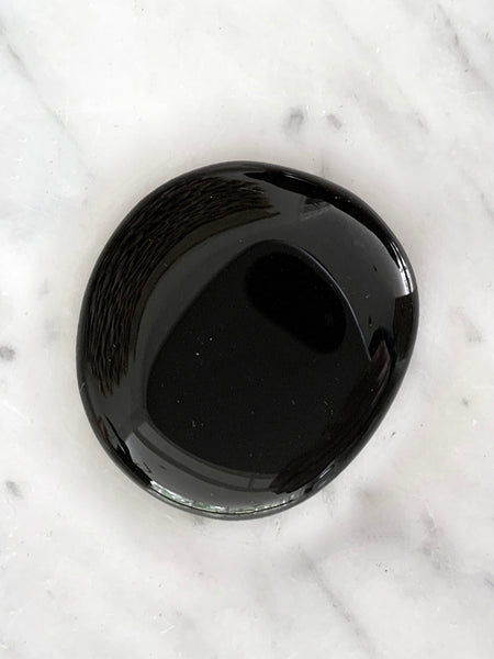 Palm Stone Crystal (Black Obsidian)