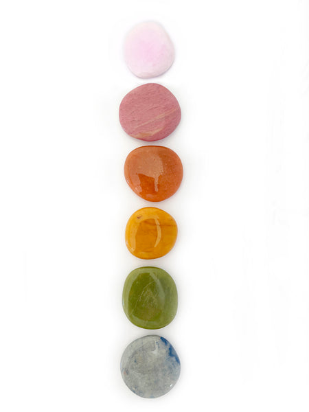 GOOD VIBES Palm Stone Crystal Set (6 pieces) • LAST SET