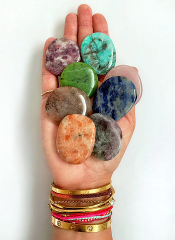 Palm Stone Crystal (Rainbow Fluorite)