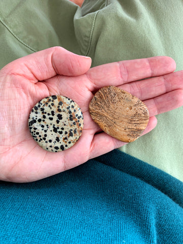 Palm Stone Crystal (Picture Jasper)