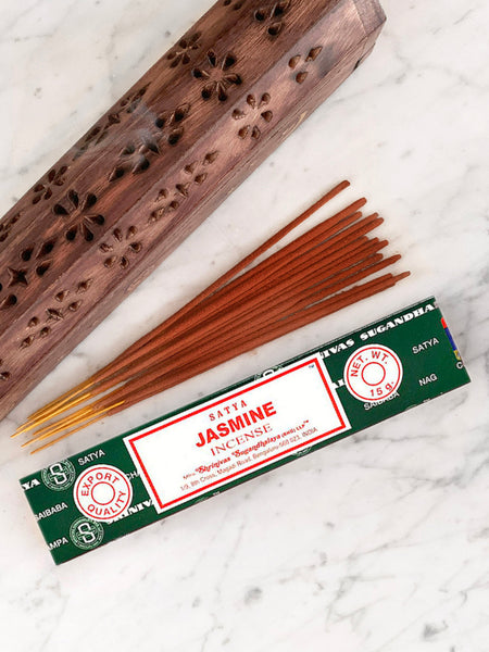 Satya Incense Sticks JASMINE (12 sticks • 15g)