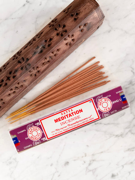 Satya Incense Sticks MEDITATION (12 sticks • 15g) • NEW