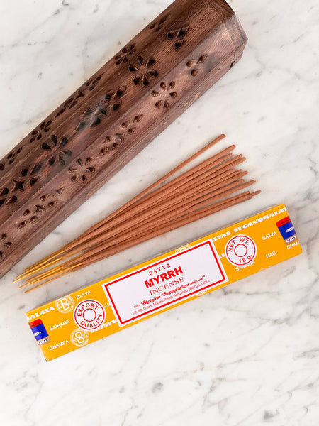 Satya Incense Sticks MYRHH (12 sticks • 15g)