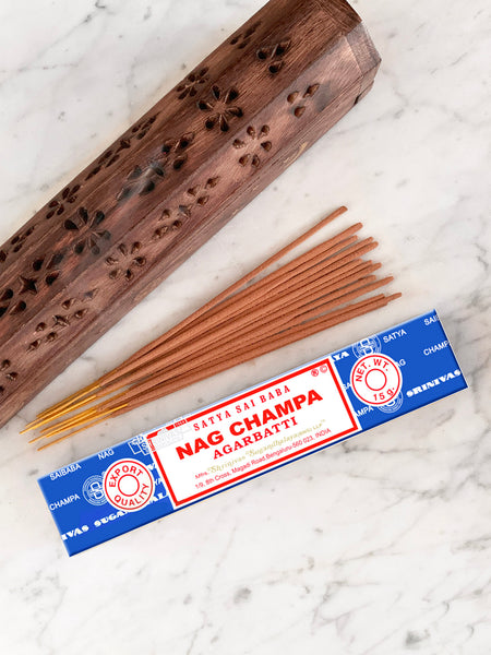 Satya Incense Sticks NAG CHAMPA (12 sticks • 15g)